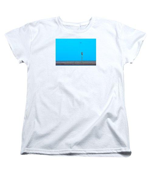 Blue Wall Parking Women's T-Shirt (Standard Cut) by Darryl Dalton