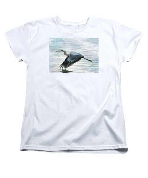 Blue With Grace And Beauty Women's T-Shirt (Standard Cut) by Deborah Benoit