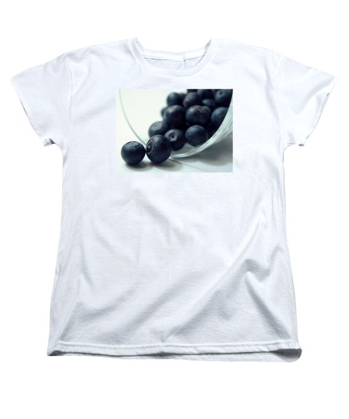 Blueberries Women's T-Shirt (Standard Cut) by Joseph Skompski