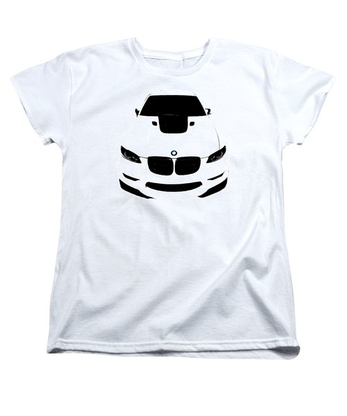Women's T-Shirt (Standard Cut) featuring the digital art Bmw White by J Anthony