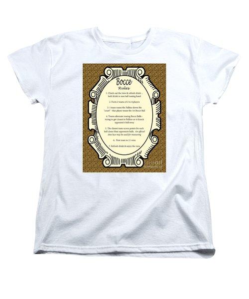 Bocce Women's T-Shirt (Standard Cut) by Nancy Patterson