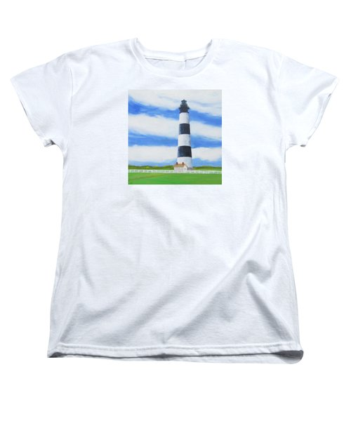 Bodie Island Lighthouse Women's T-Shirt (Standard Cut) by Anne Marie Brown