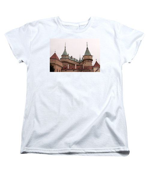Women's T-Shirt (Standard Cut) featuring the photograph Bojnice Castle by Les Palenik