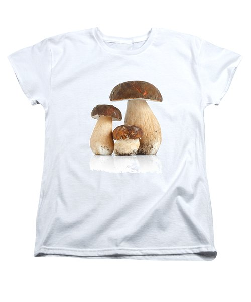 Women's T-Shirt (Standard Cut) featuring the photograph Boletus Edulis Var. Aereus by Antonio Scarpi