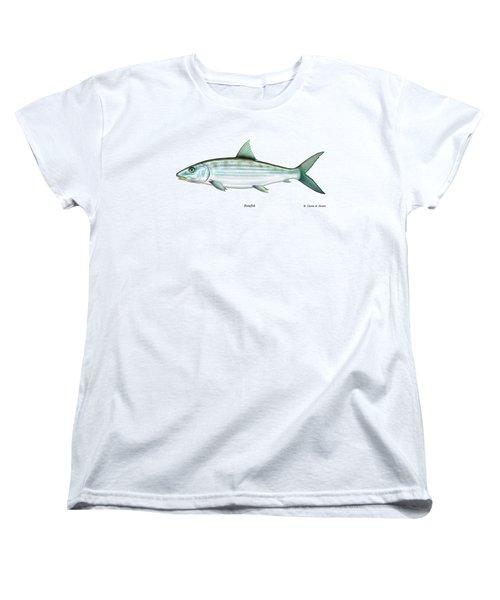 Bonefish Women's T-Shirt (Standard Cut) by Charles Harden