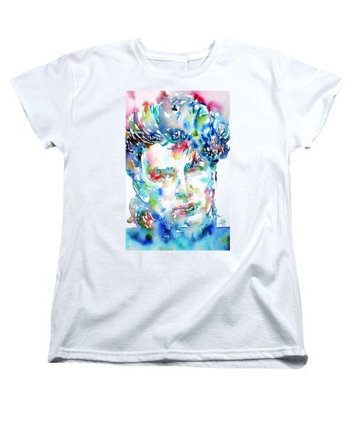 Bono Watercolor Portrait.1 Women's T-Shirt (Standard Cut) by Fabrizio Cassetta