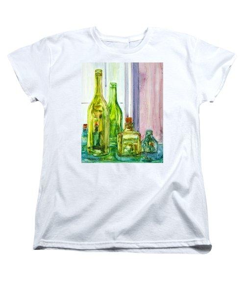 Bottles - Shades Of Green Women's T-Shirt (Standard Cut)