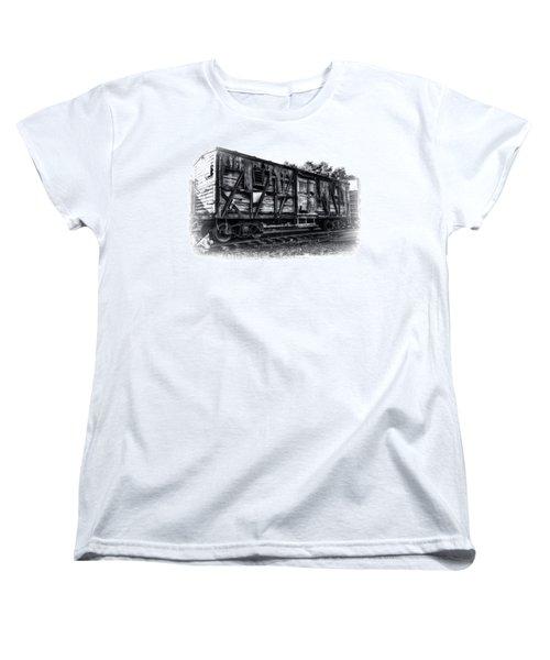 Box Car In High Key Hdr Women's T-Shirt (Standard Cut) by Michael White