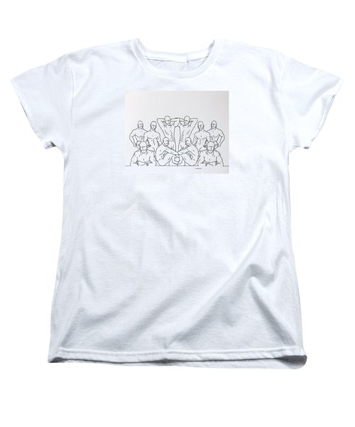 Women's T-Shirt (Standard Cut) featuring the drawing Boys At Play #3 by Thomas Gronowski