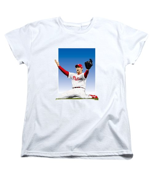 Brad Lidge Champion Women's T-Shirt (Standard Cut) by Scott Weigner