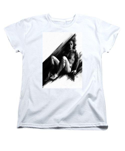 Women's T-Shirt (Standard Cut) featuring the drawing Bradley by Paul Davenport