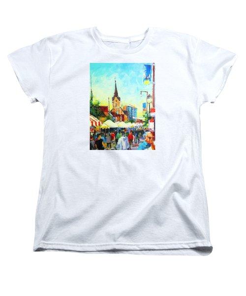 Brady Street Women's T-Shirt (Standard Cut) by Les Leffingwell