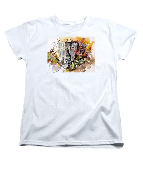 Women's T-Shirt (Standard Cut) featuring the painting Brambles by Rae Andrews