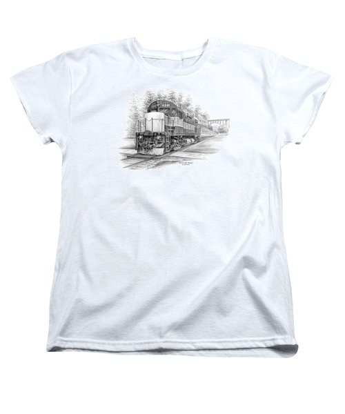 Women's T-Shirt (Standard Cut) featuring the drawing Brecksville Station - Cuyahoga Valley National Park by Kelli Swan
