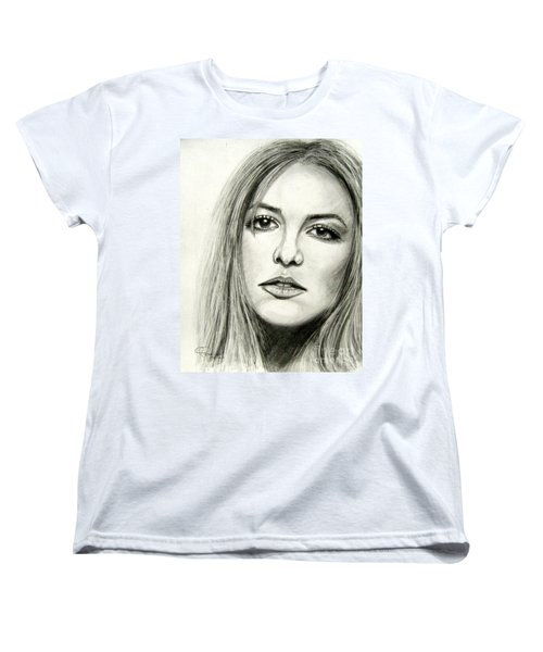 Women's T-Shirt (Standard Cut) featuring the drawing Britney Spears by Patrice Torrillo