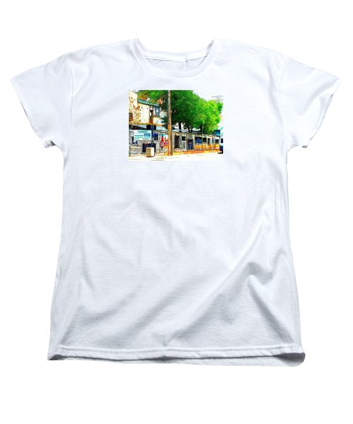 Broadway Oyster Bar With A Boost Women's T-Shirt (Standard Cut) by Kelly Awad