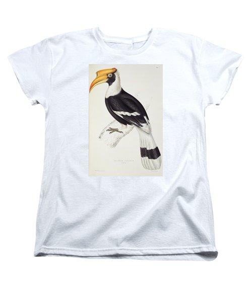 Great Hornbill Women's T-Shirt (Standard Cut) by John Gould