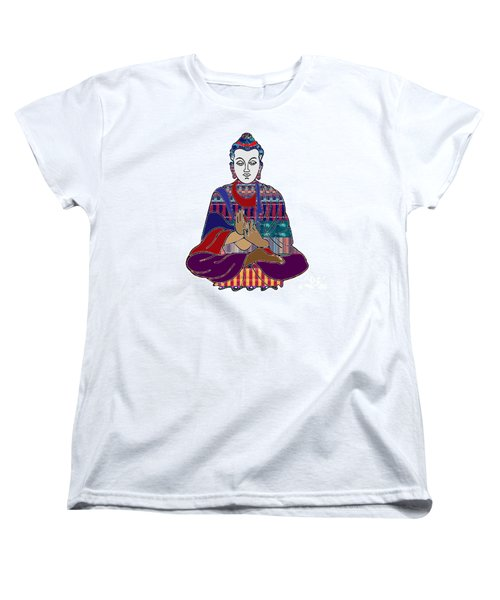 Buddha In Meditation Buddhism Master Teacher Spiritual Guru By Navinjoshi At Fineartamerica.com Women's T-Shirt (Standard Cut) by Navin Joshi