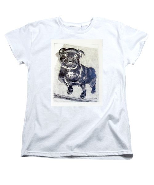 Women's T-Shirt (Standard Cut) featuring the drawing Buddy by Jamie Frier