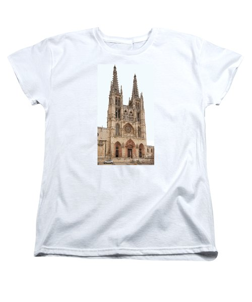 Women's T-Shirt (Standard Cut) featuring the photograph Burgos Cathedral Spain by Rudi Prott