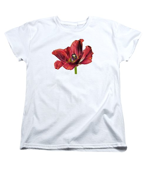 Burning Tulip Women's T-Shirt (Standard Fit)