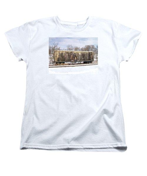 Women's T-Shirt (Standard Cut) featuring the photograph Burnt by Sara  Raber