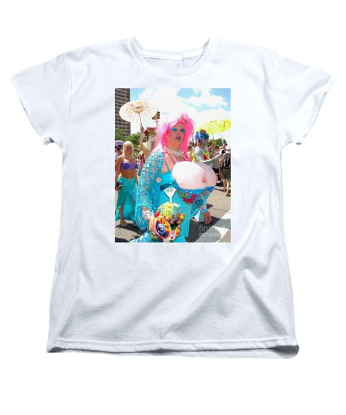 Women's T-Shirt (Standard Cut) featuring the photograph Busty Mermaid by Ed Weidman