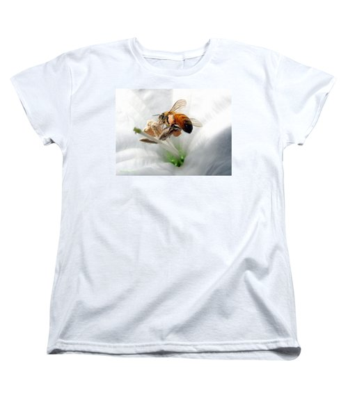 Women's T-Shirt (Standard Cut) featuring the photograph Busy by Joyce Dickens