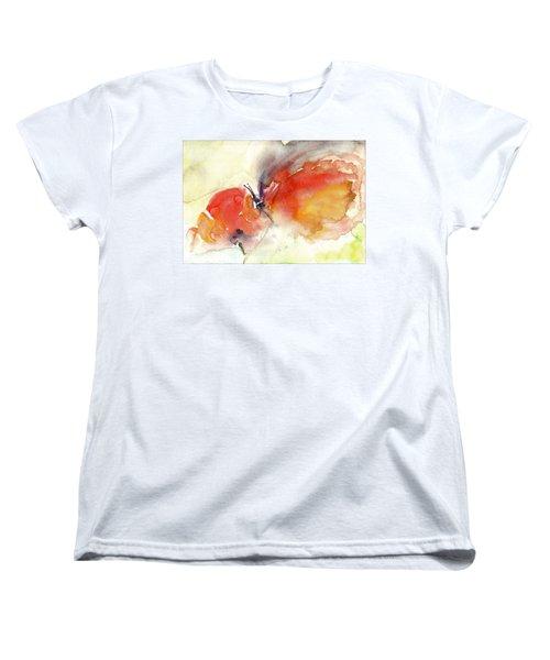 Women's T-Shirt (Standard Cut) featuring the painting Butterfly by Faruk Koksal