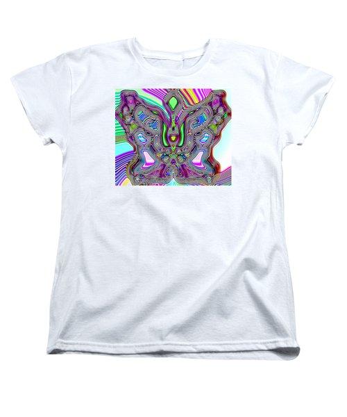 Butterfly Groove Women's T-Shirt (Standard Cut) by Susan Kinney