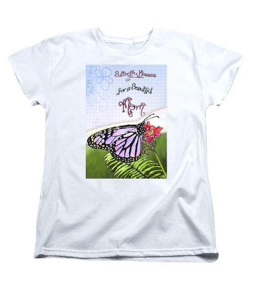 Butterfly Kisses Women's T-Shirt (Standard Cut) by Susan Kinney