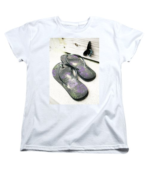 Butterfly Summer Women's T-Shirt (Standard Cut) by Angela DeFrias