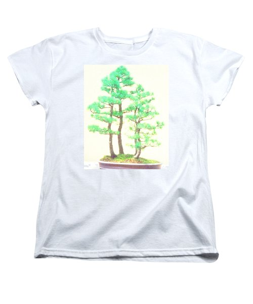 Caitlin Elm Bonsai Tree Women's T-Shirt (Standard Cut) by Marian Cates