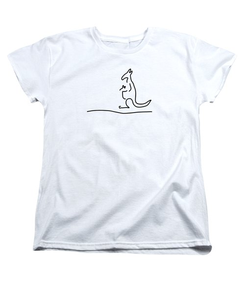 Cangarooh Kaenguru Bag Baby Women's T-Shirt (Standard Cut) by Lineamentum