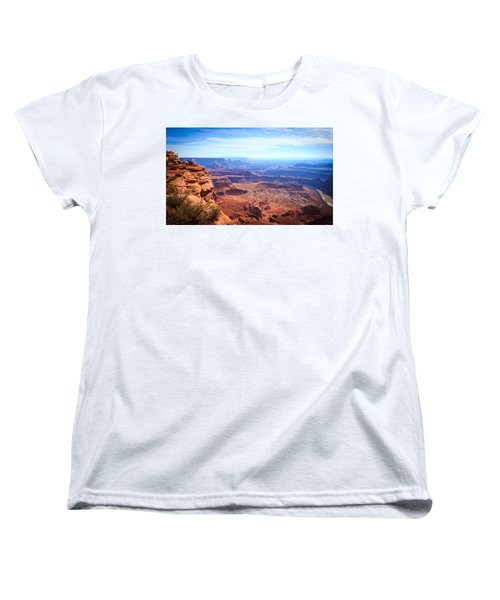 Women's T-Shirt (Standard Cut) featuring the photograph Canyonlands - A Landscape To Get Lost In by Peta Thames