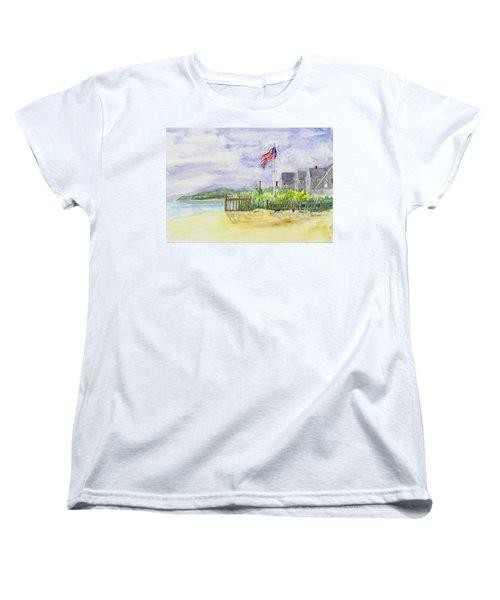Massachusetts -cape Cod Cottages Women's T-Shirt (Standard Cut) by Christine Lathrop