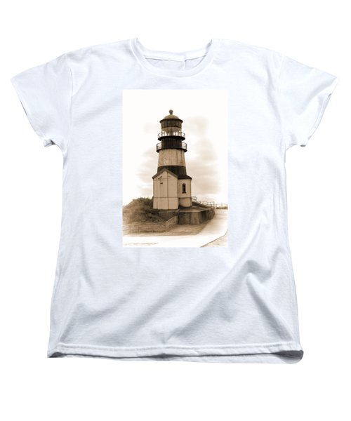 Cape Disappointment Lighthouse Women's T-Shirt (Standard Cut) by Cathy Anderson