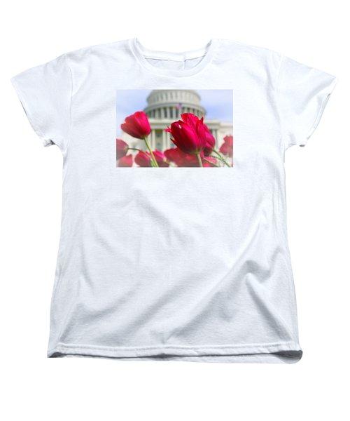 Women's T-Shirt (Standard Cut) featuring the photograph Capital Flowers  by John S