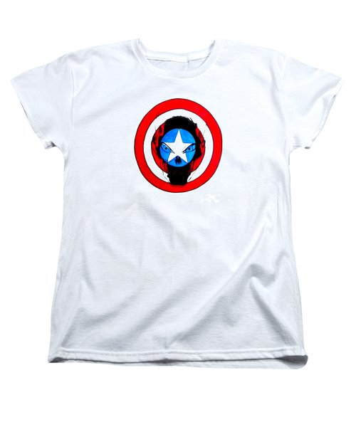 Captain America And Red Skull Women's T-Shirt (Standard Cut) by Justin Moore