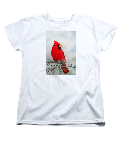 Cardinal Women's T-Shirt (Standard Cut) by Laurel Best