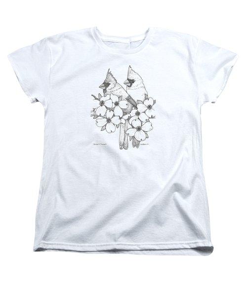 Cardinals And Dogwoods Women's T-Shirt (Standard Cut) by Jim Harris