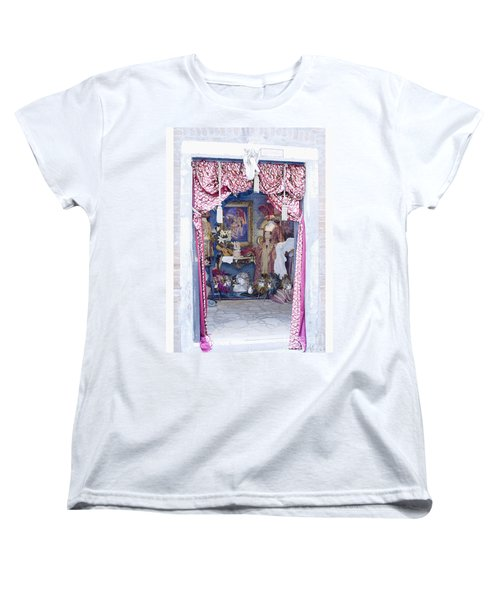 Women's T-Shirt (Standard Cut) featuring the digital art Carnevale Shop In Venice Italy by Victoria Harrington