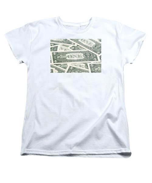 Women's T-Shirt (Standard Cut) featuring the photograph Carpet Of One Dollar Bills by Lee Avison