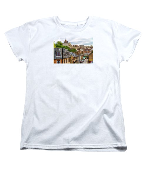Castle Above The Town Women's T-Shirt (Standard Cut) by Tim Stanley