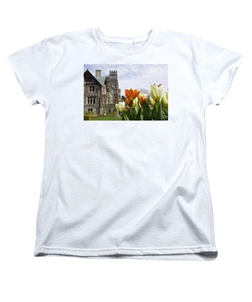 Women's T-Shirt (Standard Cut) featuring the photograph Castle Tulips by Marilyn Wilson