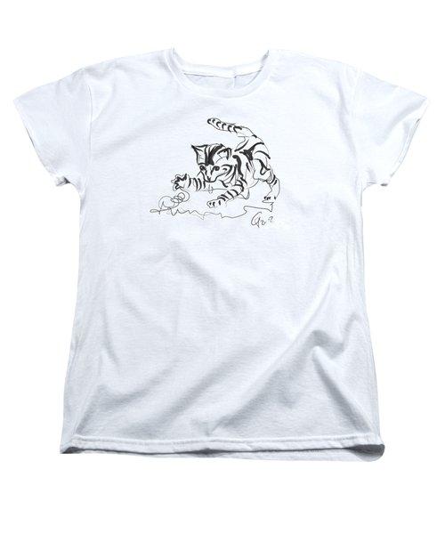 Cat- Cute Kitty  Women's T-Shirt (Standard Cut) by Go Van Kampen