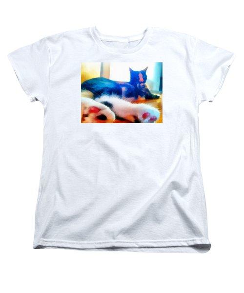 Cat Feet Women's T-Shirt (Standard Cut) by Derek Gedney