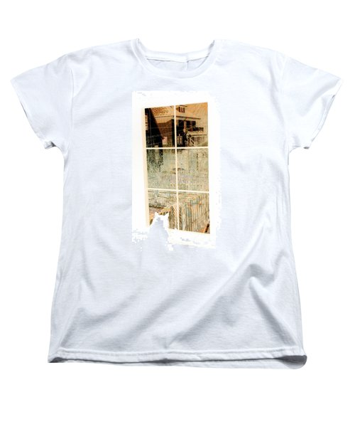Women's T-Shirt (Standard Cut) featuring the photograph Cat Perspective by Jacqueline McReynolds