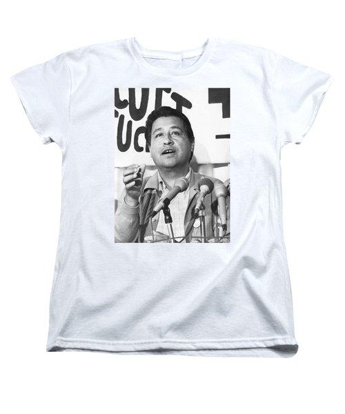 Cesar Chavez Announces Boycott Women's T-Shirt (Standard Cut) by Underwood Archives