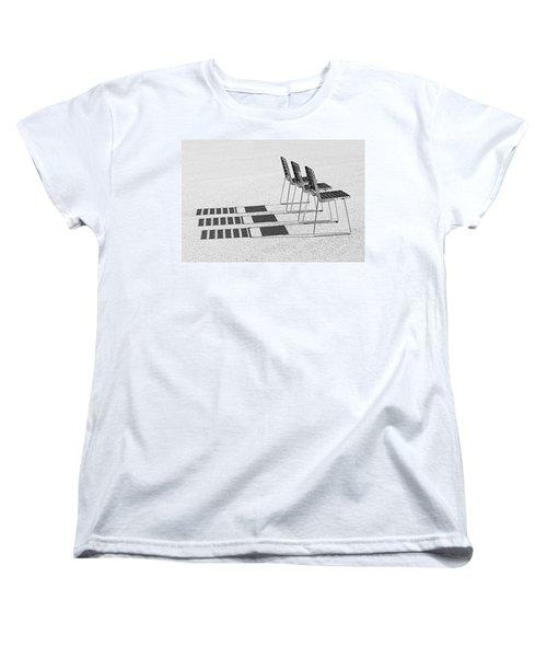 Chairs In The Sun Women's T-Shirt (Standard Cut)